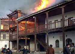 Пожар у манастиру Трескавац, задужбини Немањића