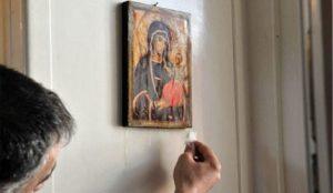Промироточила икона Мајке Божије