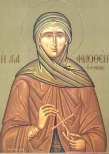 Авета преподобомученица Филотеја атинска