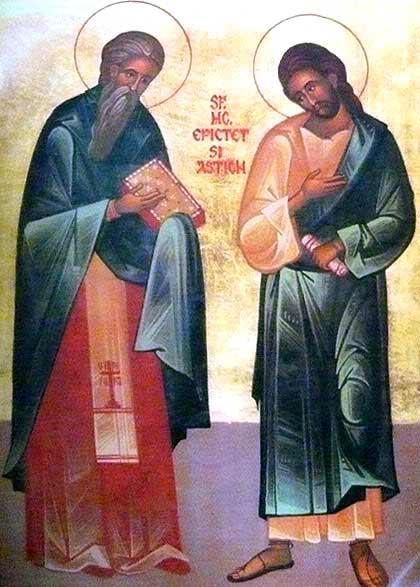 Свети преподобни мученици Епиктет и Астион