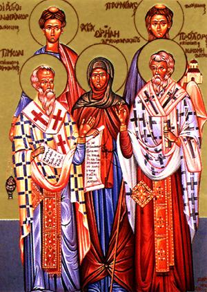 Свети апостоли: Прохор, Никанор, Тимон и Пармен