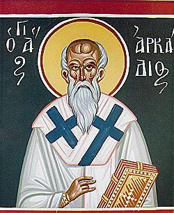 Свети Аркадије чудотворац, епископ Арсиноје на Кипру