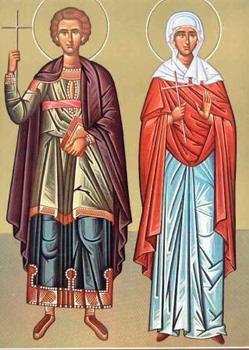 Свети преподобни мученици Галактион и Епистима