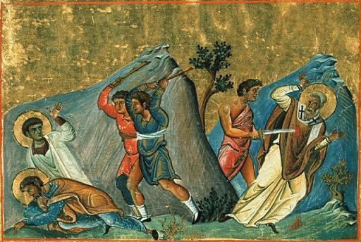 Свети свештеномученик Милије и два ученика његова