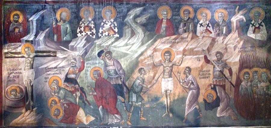 Свети мученици Алфеј, Филаделф и Кирин