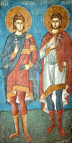 Свети свештеномученик Алвиан и његов ученик