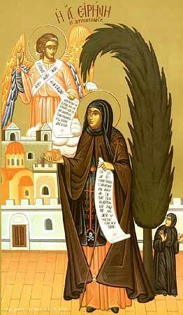 Света преподобна Ирина Хрисоваланте