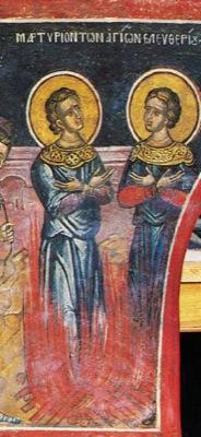 Свети мученици Елевтерије и Леонид и мала дечица