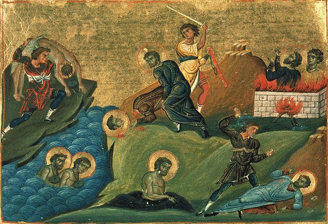 Светих 3628 мученика, пострадалих у Никомидији