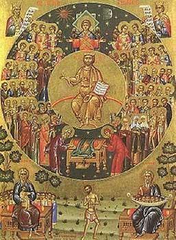 Чудесно виђење и онемелост светог пророка Захарије, оца Светог Јована Претече