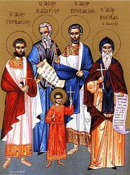 Свети мученици Назарије, Гервасије и Протасије
