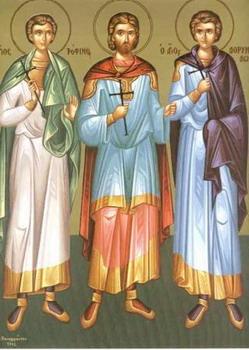 Свети мученици Трофим, Саватије и Доримедонт