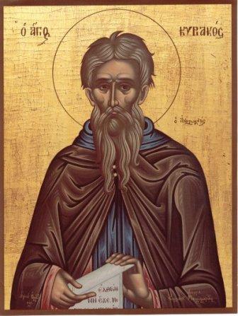 Свети преподобни Кириак Отшелник - Михољдан