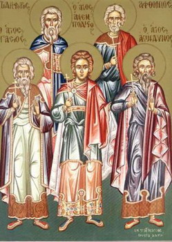 Свети мученици Акиндин, Пигасије, Анемподист, Афтоније, Елпидифор и други с њима