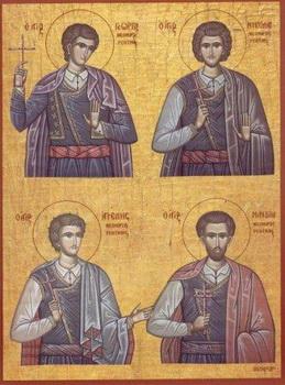 Свети новомученици Ангел, Мануил, Георгије и Николај