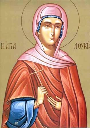 Света мученица Лукија (Луција), девица