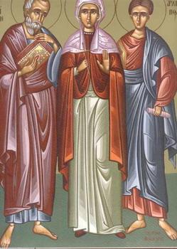 Свети апостоли Филимон, Архип и Апфија