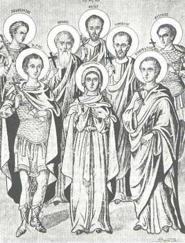 Свети мученици Евтихије и Тесалоника и са њима 200 људи и 70 жена