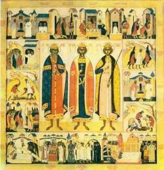 Свети мученици Антоније, Јован и Евстатије