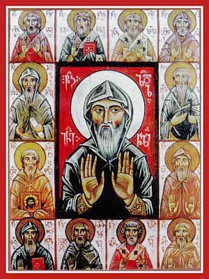 Свети преподобни Авид, Антоније, Давид, Зинон, Тадеј, Иса, Издериос, Јосиф, Михаил, Пир, Стефан и Шијо