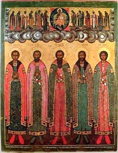 Свети преподобни Никита, Кирил, Никифор, Климент и Исак