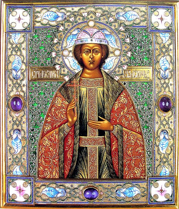 Свети кнез Константин и деца његова Михаил и Теодор