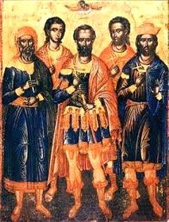 Свети мученик Серапион и са њим Калиник, Теодор и Фауст