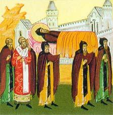 Пренос моштију преподобног Теодосија Кијево-Печерског