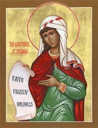 Света мученица Сузана, девица, и други с њом