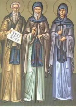 Свети преподобни Исакије, Далмат и Фауст