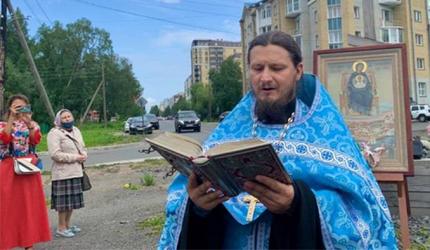Арангелск: појава Богородице изнад града