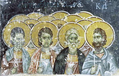 Свети мученици Тимотеј, Агапије и Текла