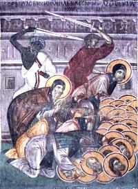 Свети преподобномученик Михаил, игуман зовијски и са њим 36 монаха
